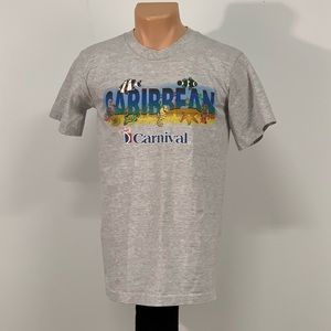 Vintage 90s Carnival Cruise Lined T-shirt